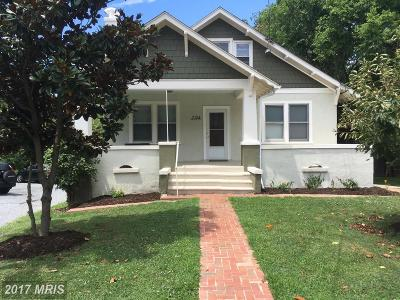 Takoma Park Single Family Home For Sale: 7124 Carroll Avenue