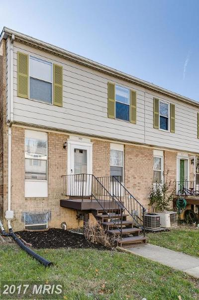 Gaithersburg MD Townhouse For Sale: $209,000