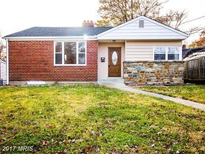 Takoma Park Single Family Home For Sale: 8110 Hammond Avenue