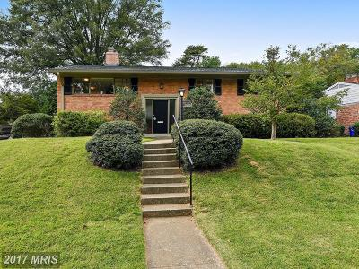 Bethesda MD Single Family Home For Sale: $749,000