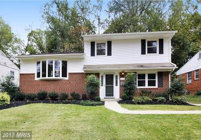 Silver Spring MD Single Family Home For Sale: $475,000