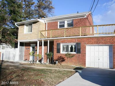 Takoma Park Single Family Home For Sale: 7605 Hammond Avenue