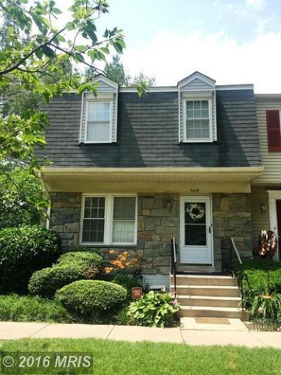 Rockville Townhouse For Sale: 7009 Roslyn Avenue