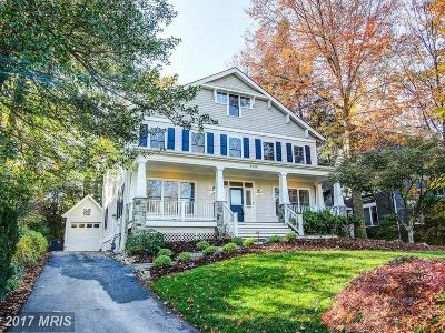 Chevy Chase Single Family Home For Sale: 4000 Thornapple Street