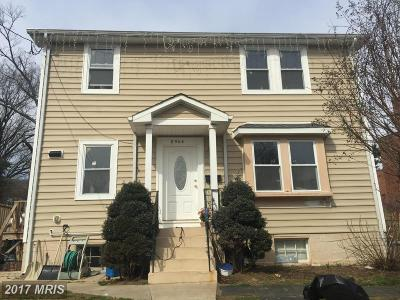 Takoma Park MD Single Family Home For Sale: $450,000