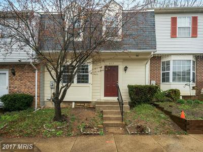 Gaithersburg Townhouse For Sale: 8717 Kelso Terrace