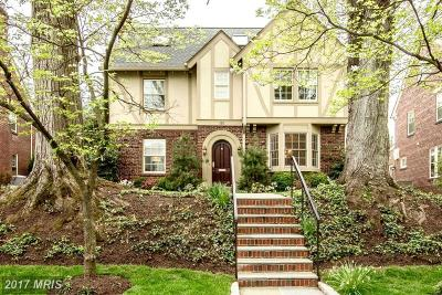 Chevy Chase Single Family Home For Sale: 110 Summerfield Road