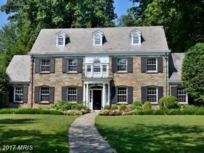 Chevy Chase Single Family Home For Sale: 6400 Brookside Drive