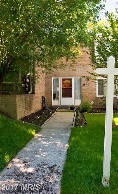 Rockville Townhouse For Sale: 5560 Burnside Drive