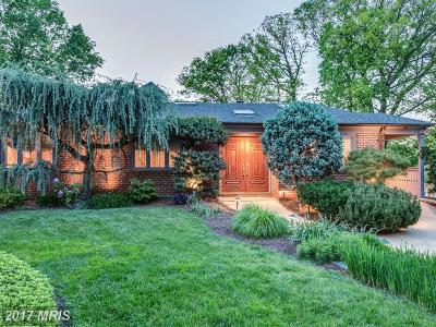 Chevy Chase Single Family Home For Sale: 3209 Brooklawn Terrace