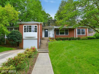 Chevy Chase Single Family Home For Sale: 3102 Brooklawn Terrace