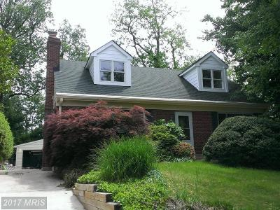 Chevy Chase Single Family Home For Sale: 8809 Walnut Hill Road