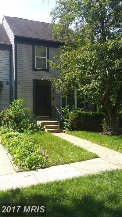 Burtonsville Townhouse For Sale: 3635 Childress Terrace