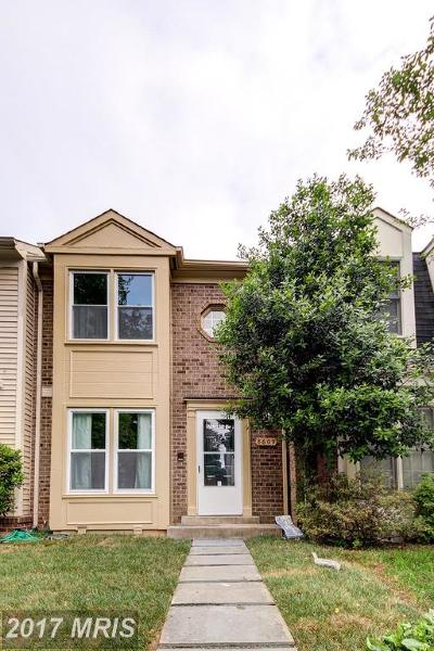 Montgomery Village Townhouse For Sale: 8609 Hawk Run Terrace