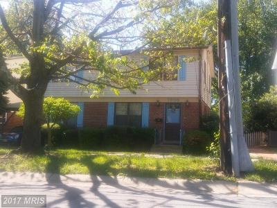 Silver Spring MD Single Family Home For Sale: $380,000