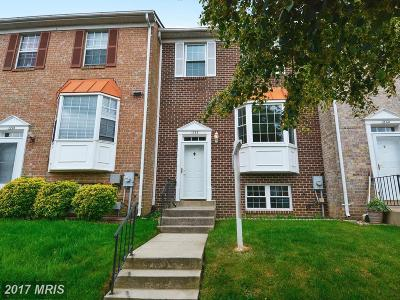 Gaithersburg Townhouse For Sale: 1238 Knoll Mist Lane