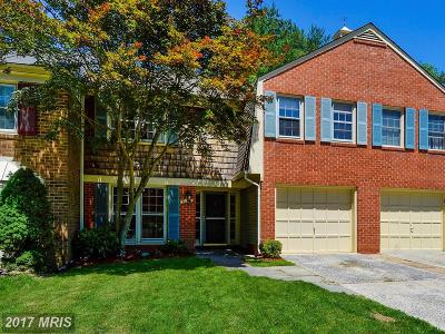 Montgomery Village Townhouse For Sale: 9435 Chatteroy Place