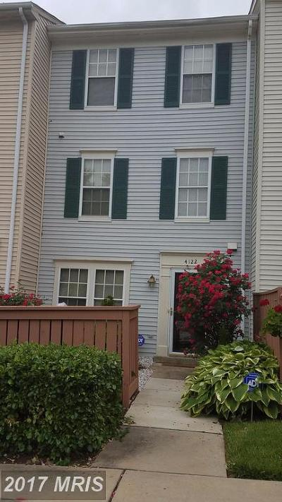 Silver Spring Townhouse For Sale: 4122 Peppertree Lane