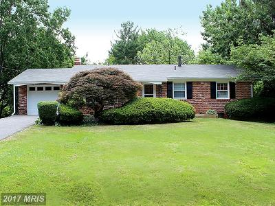 Derwood Single Family Home For Sale: 7600 Miller Fall Road