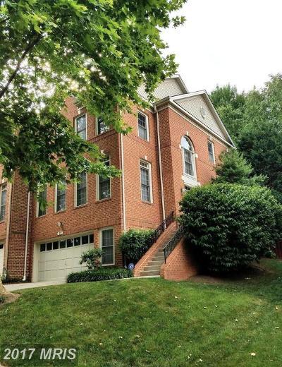 Rockville Townhouse For Sale: 23 Crofton Hill Court