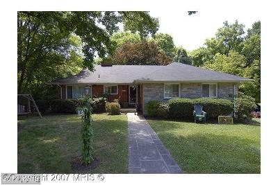 Chevy Chase Single Family Home For Sale: 4826 Derussey Parkway
