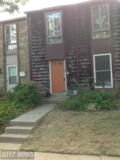 Gaithersburg Townhouse For Sale: 1116 West Side Drive #31-C