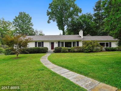 Bethesda Single Family Home For Sale: 9115 Quintana Drive