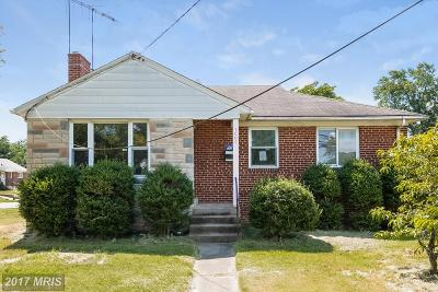 Silver Spring Single Family Home For Sale: 3606 Randolph Road