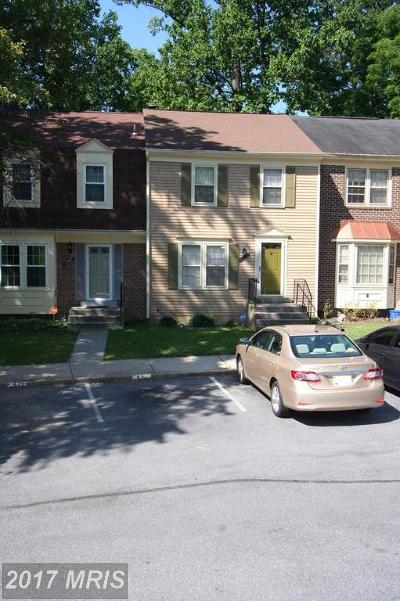 Silver Spring Townhouse For Sale: 2941 Mozart Drive