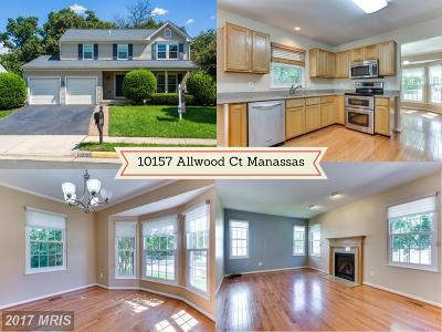 Manassas Single Family Home For Sale: 10157 Allwood Court