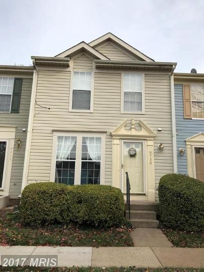 Manassas Townhouse For Sale: 9713 Sassafras Court