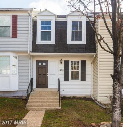 Manassas Townhouse For Sale: 8310 Georgian Court
