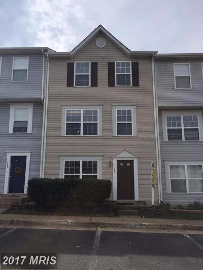 Manassas Park Townhouse For Sale: 345 Moseby Court