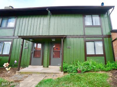 Manassas Park Townhouse For Sale: 8653 Inyo Place