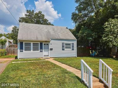 Manassas Park Single Family Home For Sale: 114 Walden Street