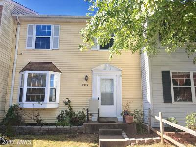 Manassas Park Townhouse For Sale: 8534 Sandstone Way