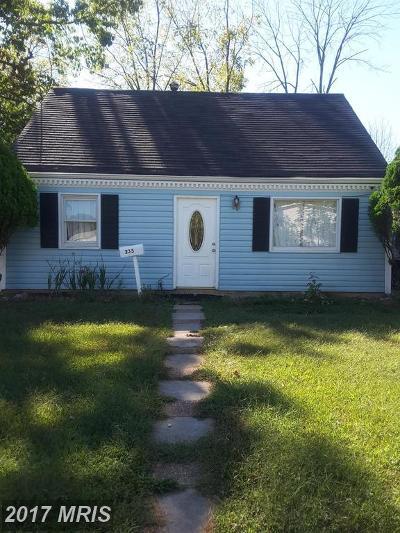 Manassas Park Single Family Home For Sale: 235 Kent Drive