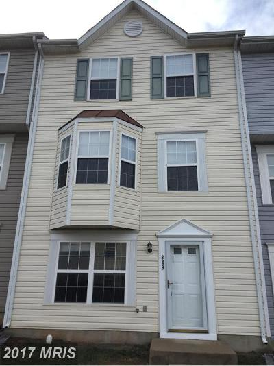 Manassas Park Townhouse For Sale: 349 Moseby Court