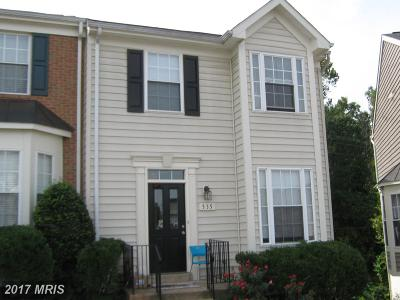 Manassas Park Townhouse For Sale: 335 Kirby Street