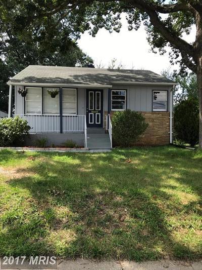 Suitland Single Family Home For Sale: 2103 Porter Avenue
