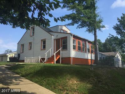 Capitol Heights Single Family Home For Sale: 1001 Capitol Heights Boulevard