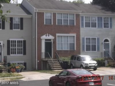 Suitland Townhouse For Sale: 3534 Wood Creek Drive