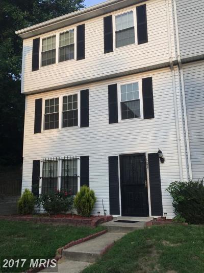 Landover Townhouse For Sale: 803 Rachel Court