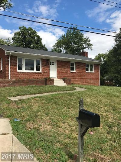 Fort Washington Single Family Home For Sale: 6708 Hillcroft Place
