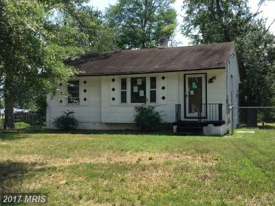 Clinton MD Single Family Home For Sale: $145,000