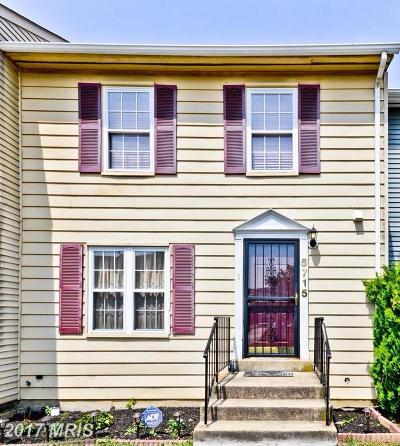 District Heights Townhouse For Sale: 5715 Hil Mar S Circle