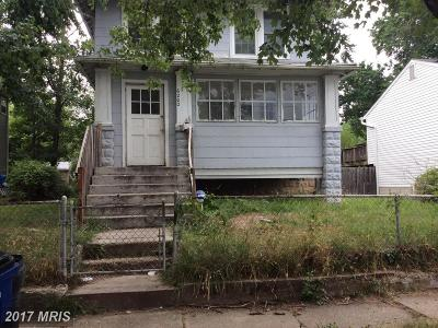 District Heights Single Family Home For Sale: 6202 Foster Street
