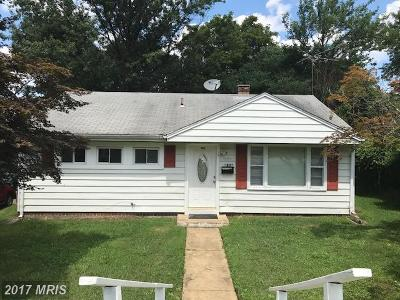 Hyattsville Single Family Home For Sale: 4803 67th Avenue