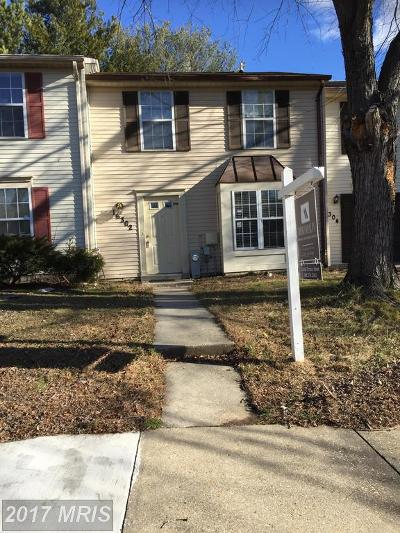 Bowie Townhouse For Sale: 16302 Pennsbury Way