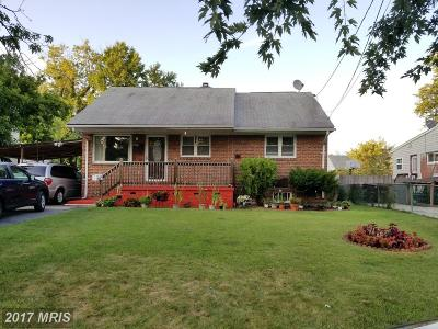 Hyattsville Single Family Home For Sale: 1706 Langley Way